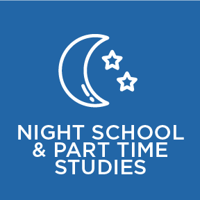 night school and studying part time at Blyth Academy Burlington